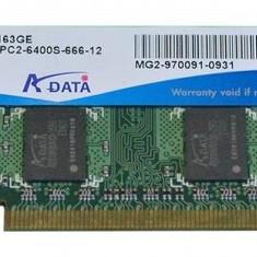 Memorie RAM de laptop Sodimm ADATA  2Gb DDR2 800Mhz PC2-6400S