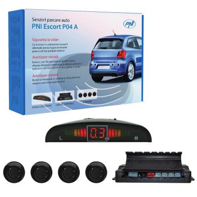 Resigilat : Senzori parcare auto PNI Escort P04 A cu 4 receptori foto