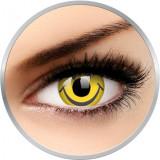 Crazy Smiley - lentile de contact colorate galbene anuale - 360 purtari (2 lentile/cutie)