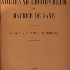 ADRIENNE LECOUVREUR ET MAURICE DE SAXE - MARQUIS D ARGENSON
