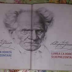 Lumea ca vointa si reprezentare 2 vol./1868pag/ed.humanitas - Schopenhauer
