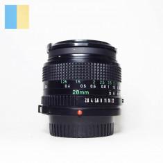 Obiectiv Canon 28mm f/2.8 montura Canon FD, impecabil