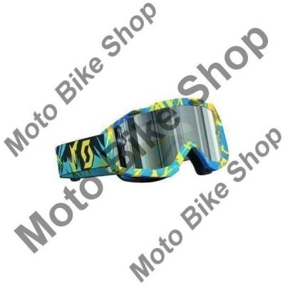 MBS Ochelari cross/enduro Scott Works Hustle , albastru/galben , sticla crom argint, Cod Produs: W2208272916AU foto