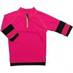 Tricou de baie pink black marimea 104- 116 protectie UV Swimpy for Your BabyKids