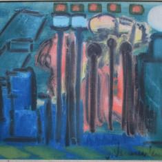 Compozitie abstracta ? - semnat  V.Vermersten, Abstract, Guasa, Altul