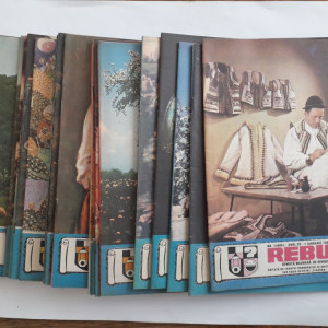 Lot 24 reviste REBUS FLACARA 1986 an complet / C1 rev P