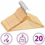 Set de umerașe anti-alunecare, 20 buc., lemn esență tare, vidaXL