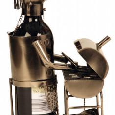 Suport metal pentru sticla vin model grataragiu H 34 cm