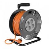 Prelungitor pe tambur, 4 prize x 230V, Strend Pro DG-4ZR-FB04, lungime 50m SCU Mania