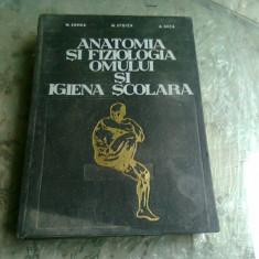 ANATOMIA SI FIZIOLOGIA OMULUI SI IGIENA SCOLARA - M. ZARMA