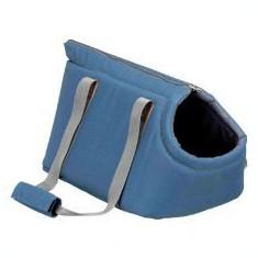 Geantă de transport pentru câini și pisici Stanley, albastră- 25 x 25 x 38 cm