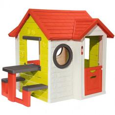 Casuta pentru Copii My House cu Masuta Picnic, Smoby