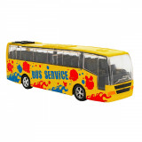 Autobuz din metal cu sunete si lumini Globo, Galben