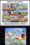 DB Disney  St. Vincent Prietenii lui Mickey Vanzatori Comercianti MS + SS MNH, Nestampilat
