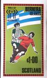 Cumpara ieftin Bernera Island 1978, fotbal C.M. de fotbal Argentina 78, bloc nedant. Mnh, Nestampilat