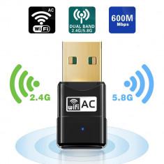 ADAPTOR USB WIRELESS, WI-FI, DUAL BAND 2.4GHZ SI 5.8GHZ
