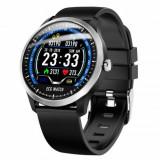 Cumpara ieftin Ceas smartwatch Aipker N58- ritm cardiac,PPG+EKG,tensiunea arteriala -negru