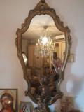 Oglinda antica stil baroc/louis/udovic,vintage, 1m H, 1900 - 1949