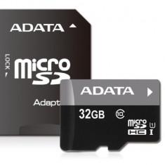 Card de Memorie MicroSD HC ADATA Premier 32 GB Clasa 10 Viteza citire 50MBs Adaptor SD