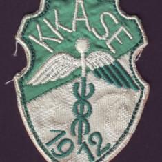 1912 Emblema brodata KKASE Cercul academic sportiv al Universitatii Comert Cluj