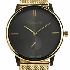 Ceas de mana dama casual, elegant Geneva Gold GV432GN