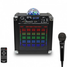 Boxa portabila cu acumulator, microfon ,Bluetooth USB 50W RMS