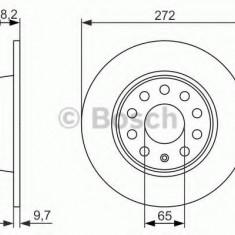 Disc frana VW GOLF VI (5K1) (2008 - 2013) BOSCH 0 986 479 677