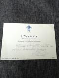 Carte de vizită semnată de Mitropolitul Teoctist