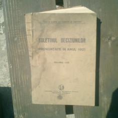Buletinul deciziunilor pronuntate in anul 1921 volumul LVIII - Andrei Radulescu