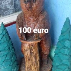 Sculptura in lemn (din drujba)