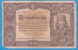 (10) BANCNOTA UNGARIA - 50 KORONA 1920 (1 IANUARIE1920) SERIA 5a009/955495