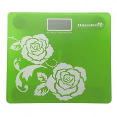 Cantar digital Hausberg, 150 kg, LCD, Verde