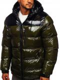 Cumpara ieftin Geacă de iarnă bărbați verde matlasată Bolf 6462