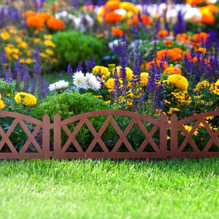 Bordura pt. pat de flori / gard - 59,5 x 24 cm - teracota Best CarHome