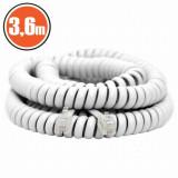 Cumpara ieftin Cablu telefon spiralat4P/4C3,6 m, Carguard