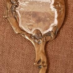 Oglinda ART NOUVEAU - BRONZ DORE - statueta antica