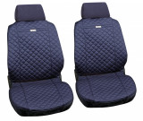 Huse scaun fata din bumbac Ziga 2buc - Albastru Garage AutoRide