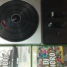 Platan - DJ Hero Turntable - XBOX 360 + 2 Jocuri, Controller