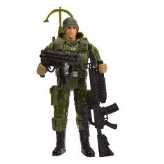 Figurina de jucarie pentru copii,, model soldat cu accesorii , verde/negru
