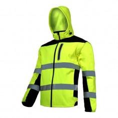 Jacheta reflectorizanta elastica, 100% poliester, 3 buzunare, maneci detasabile, marime XL, Verde