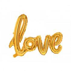 Balon folie LOVE, Auriu