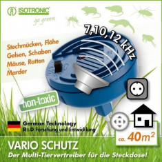 Aparat anti rozatoare si insecte cu ultrasunete Vario Protector