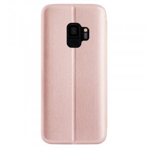 Husa book satinat Samsung Galaxy S9 Contakt Roz
