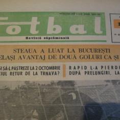 Revista Fotbal nr.121/19 septembrie 1968-Steaua-Spartak Trnava,OFK Belgrad-Rapid