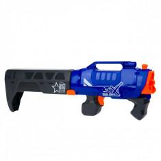 Arma de jucarie pentru copii, model lansator tip bazooka cu 20 gloante de spuma, 24×16 cm