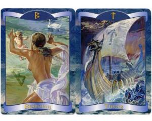 Carti tarot oracol rune Rune Oracle Cards+cadou un set de rune viking