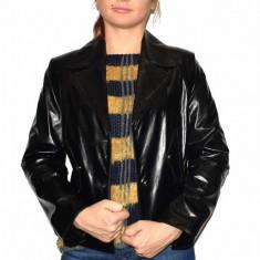 Haina dama, din piele naturala, marca Kurban, 88-01-95, negru