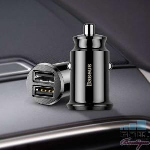 Incarcator Auto cu Incarcare Rapida Samsung iPhone Universal Dual Port USB Negru