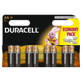 Set 8 baterii Duracell Basic, tip AA LR06