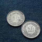 2m - Lot 1/2 Franc 1969 + 2007 Elvetia / lot 2 monede, Europa